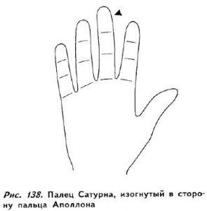 Изогнутый средний палец