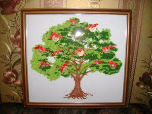 вышивка бисером денежного дерева