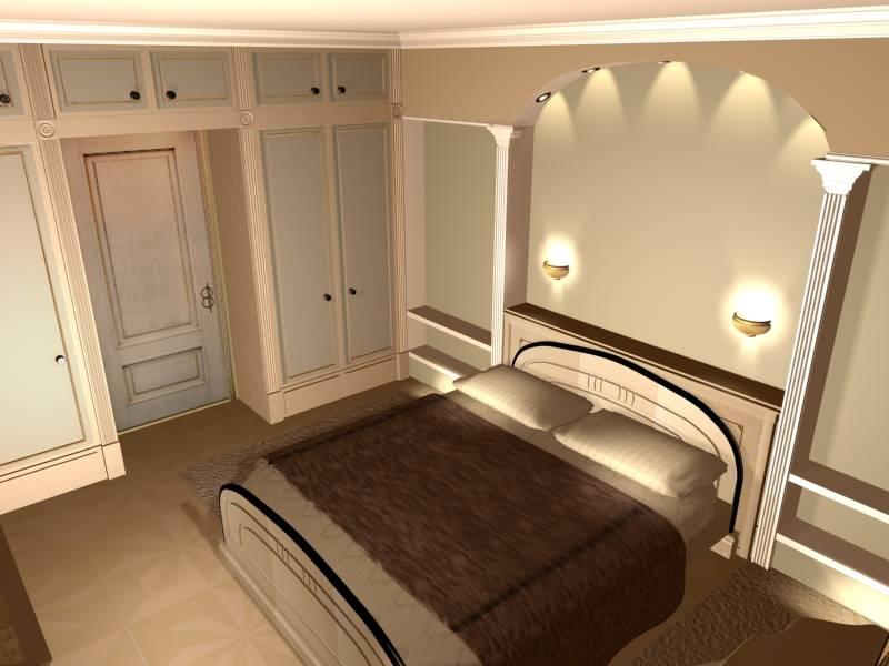 Освещение спальни и кабинета