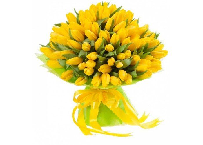 Желтые тюльпаны - примета