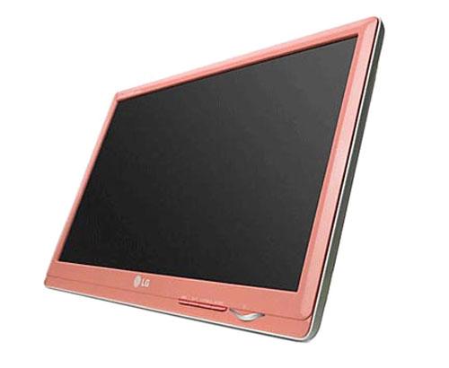 Розовый монитор