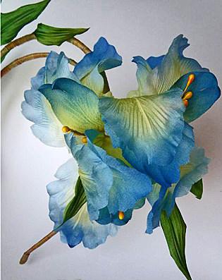 цветы ободок