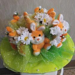 цветы из игрушек
