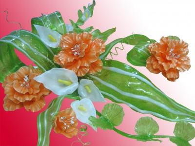 цветы из карамели