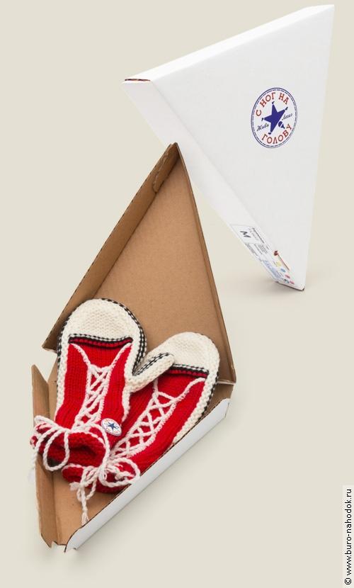 Варежки С ног на голову в коробке