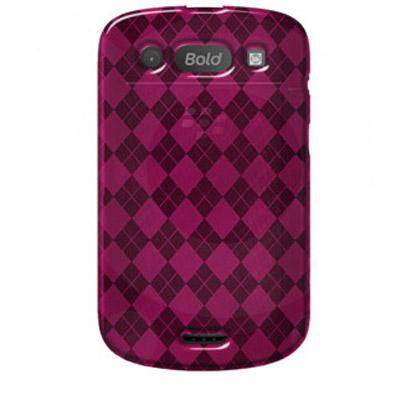 Чехол для BlackBerry Bold 9930,BlackBerry Bold 9900 Luxe Argyle High Gloss TPU Soft Gel Skin Case - Hot Pink For