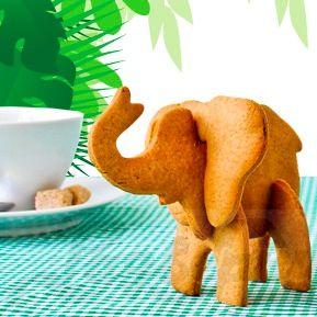 Фигурка слона из печенья
