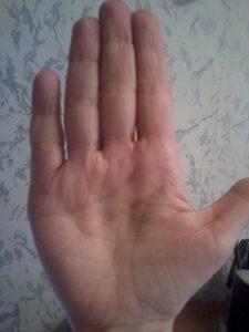 Фото отсутствия линии судьбы на руке