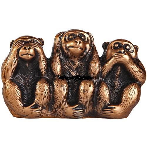 Статуэтка три обезьянки в фен шуй