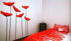 изображения большого живого мака в спальне