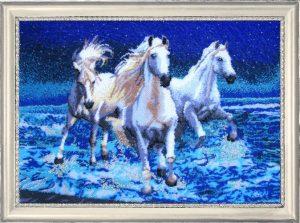 вышивка бисером лошади