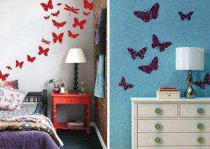 бабочки по фен-шуй над кроватью