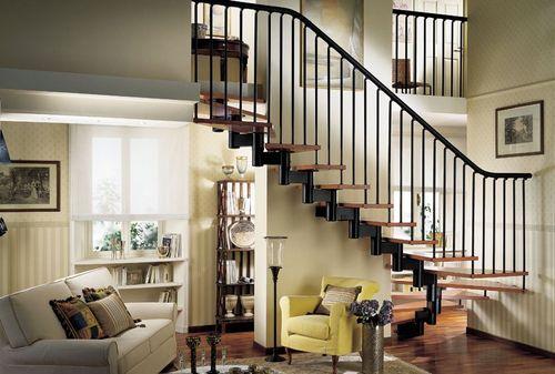металлическая лестница по фен-шую на второй этаж