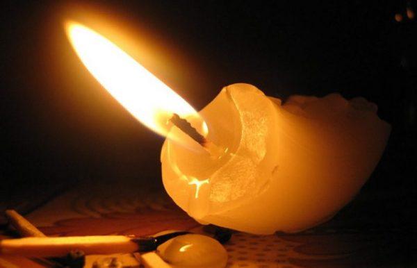 Свеча упала
